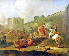 Battle between the Fronde forces of the Prince de Conde and the army loyal to Anne of Austria and Mazarin
