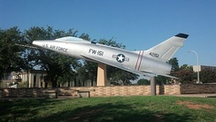 F-100D on display at Sheppard AFB.