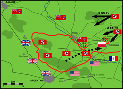 German counterattacks against Canadian-Polish positions on 20 August 1944
