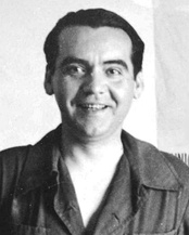 Federico García Lorca prominent poet executed by Francoists during the Spanish Civil War.