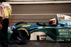 Michael Schumacher started fourth but retired from the race.