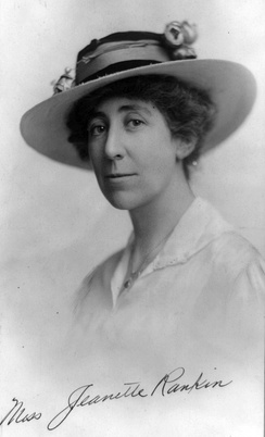 "Sometimes called the ""Lady of the House"", Jeannette Rankin entered the U.S. House of Representatives in 1917 as the first woman in Congress."