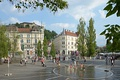 Prešeren Square in downtown Ljubljana