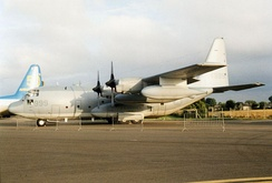 The KC-130T is still in service with the USMC Reserve, here VMGR-452.