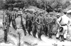 Men from the indigenous tribes of Sabah and Sarawak were recruited by the Malaysian government as Border Scouts under the command of Richard Noone and other officers from the Senoi Praaq to counter the Indonesian infiltrations.