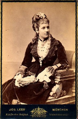 Princess Maria Theresa of Bavaria, future Queen of Bavaria, 1870s.