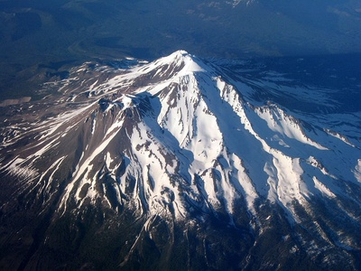 Mount Shasta in California is the highest summit of the southern Cascade Range.