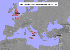 Norman possessions in the 12th century