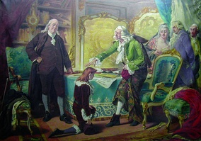 Voltaire blessing Franklin's grandson, in the name of God and Liberty, by Pedro Américo, 1889–90