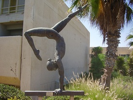 The Gymnast sculpture in Wingate Institute, Israel