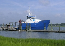 The R/V Savannah research vessel at the Skidaway Institute of Oceanography