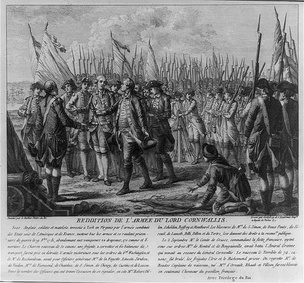 The surrender of Lord Cornwallis, October 19, 1781 at Yorktown