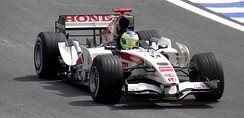 Rubens Barrichello driving for Honda