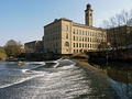 Salts Mill and River Aire