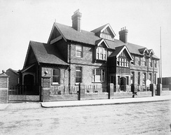 The Albert Dock Seamen's Hospital in the early 20th century.
