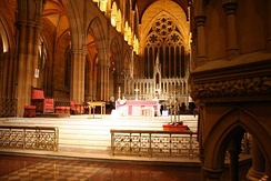 The sanctuary at St. Mary's Cathedral, Sydney