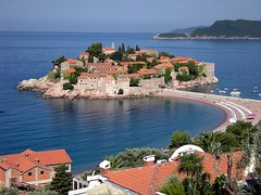 A view of Sveti Stefan, Montenegro