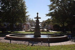 Fountain at the center of the Circle