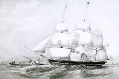 England, a packet ship of the Black Ball Line