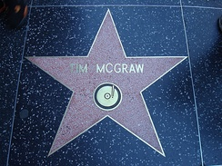 Tim McGraw's star on the Hollywood Walk of Fame