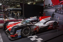 The winning No.8 TS050 from the 2018 24 Hours of Le Mans, preserved with dirt from the race.