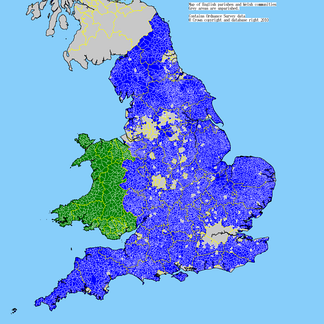 Map of English parishes and Welsh communities