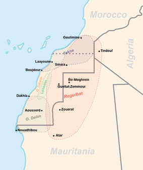 Map of the tribes of Western Sahara