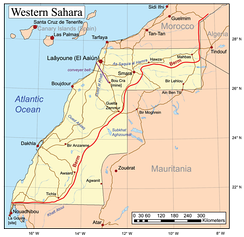 Morocco annexed Western Sahara in 1975. The Polisario Front control the territory east of the Moroccan berm (wall).