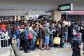 Австрия. Мигранты на Западном железнодорожном вокзале Вены 5 сентября 2015 года, ожидающие поезда в Германию
