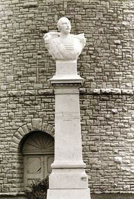 Bust of Demetrios Ypsilantis at the Ypsilanti Water Tower