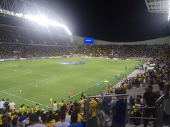 Bloomfield Stadium hosting a Tel Aviv mini-derby between Maccabi Tel Aviv and Bnei Yehuda, September 2019