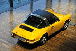 1972 Porsche 911 T Targa with removable roof. Notice the oil filler door on the rear right fender, which is only found on the 1972 model.