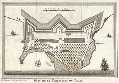 Kollam fort in 1756 after it had passed from Portuguese rule to the Dutch