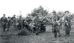 Members of the 1st Foreign Parachute Heavy Mortar Company in Indochina.