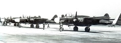 2d Fighter Squadron (All Weather) Northrop P-61Bs on parking apron at Mitchel AFB in October 1948