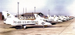 539th Fighter-Interceptor Squadron Convair F-106A-64-CO Delta Darts McGuire AFB, New Jersey October 1959