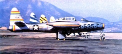 58th Fighter-Bomber Group F-84E South Korea, 1952. Commander's aircraft 51-1535, other three squadrons aircraft shown in different tail markings