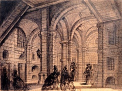 The council chamber, sketched in 1785