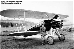 Boeing P-12 with Captain Ira Eaker