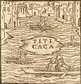 Сьеса де Леон Первое изображение оз. Титикака в Европе (1553).