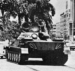 Cuban tank in Luanda, 1976