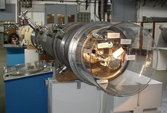 Segment of an electron synchrotron at DESY