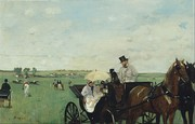 Edgar Degas, At the Races in the Countryside, 1869