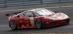The No. 82 Ferrari F430 GT2 of Risi Competizione took first place in GT2