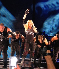 Madonna at a 2009 show.