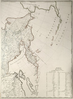 Most of the Sea of Okhotsk, with the exception of the Sakhalin Island, had been well mapped by 1792