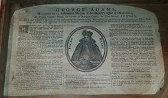 Oldest known trade card for George Adams, at The Mariners' Museum