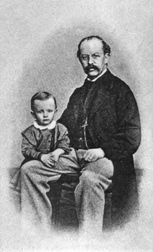 Hauptmann with his father, Robert.