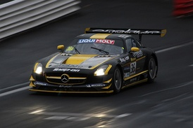 The 2013 Bathurst 12 Hour race winning Mercedes-Benz SLS AMG of Thomas Jäger, Alexander Roloff and Bernd Schneider.