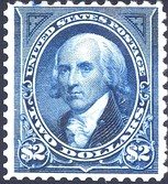 James Madison was honored on a Postage Issue of 1894